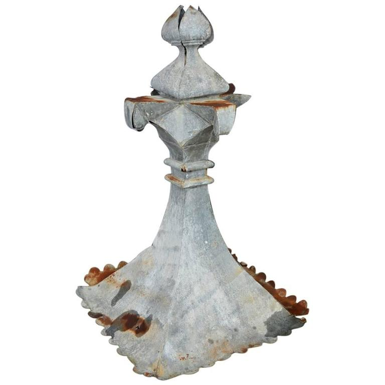Antique French Zinc Building Finial