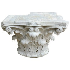 Antique Corinthian Corner Capital