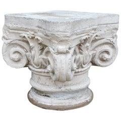 Antique Ionic Stone Pedestal