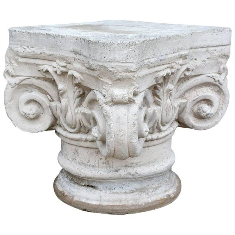 Antique Ionic Stone Pedestal For Sale