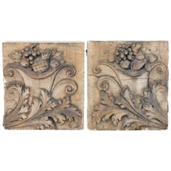 Pair of Antique Terracotta Architectural Building Elements