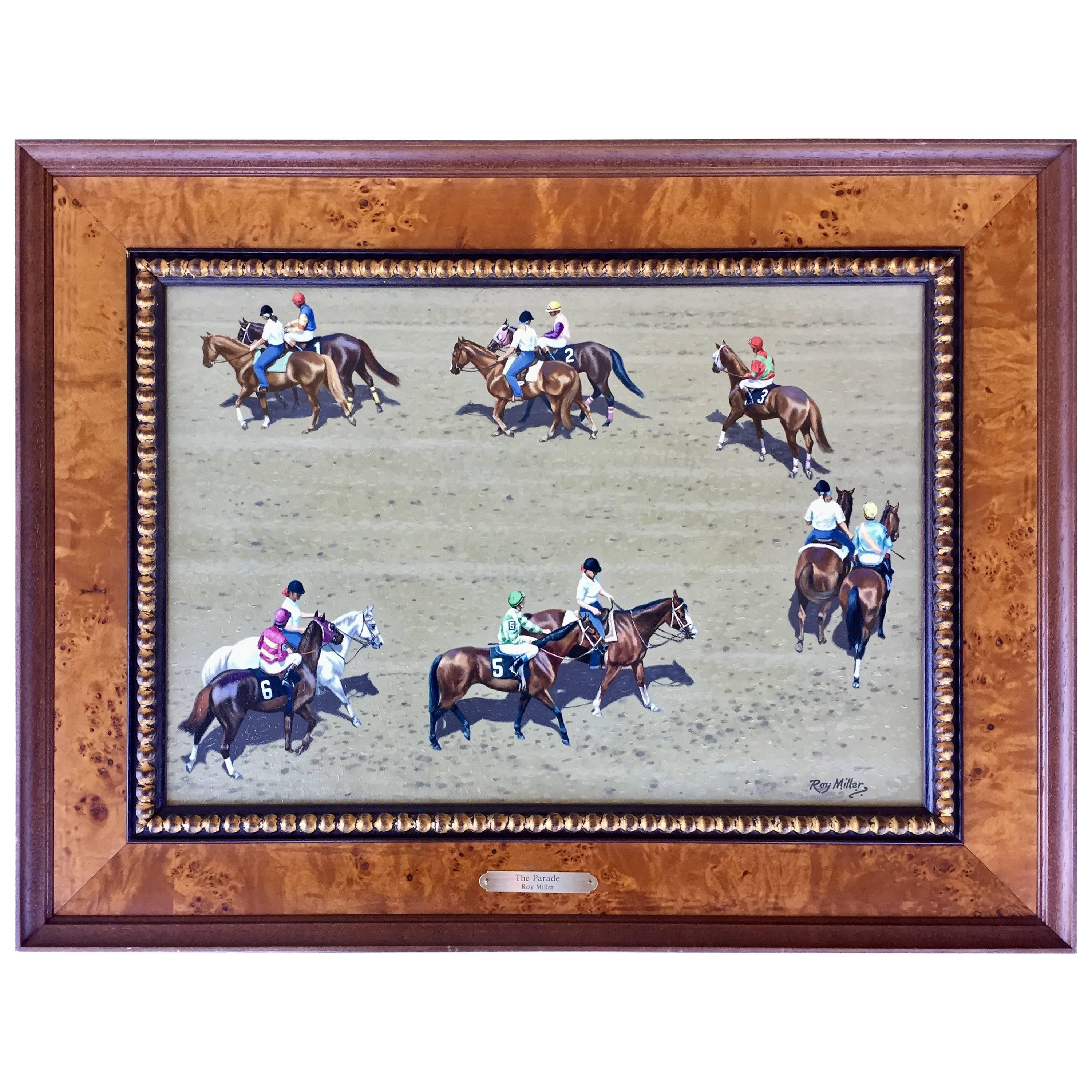 """""""The Parade"""" Horse Racing Painting by Roy Miller"""