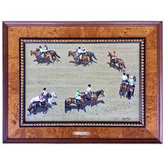 """The Parade"" Horse Racing Painting by Roy Miller"