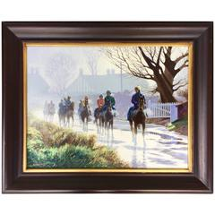 """Clearing Mist"" Horse Racing Painting by Roy Miller"