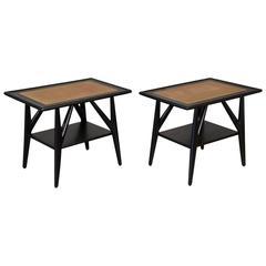 Pair of Ebonized Oak Side Tables by Jack Van der Molen