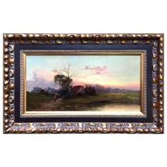 """""""Days End"""" Luminous Landscape Painting by Benjamin Williams Leader"""