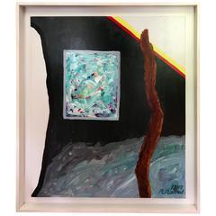 "Roger Raveel ""Blue Window"" 1997, Oil on Canvas ""original"" post expressionisme"