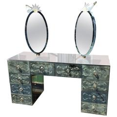Fantastic Venetian Mirrored Engraved Toilette