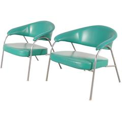 Pair of Rare Easy Chairs Produced by Arflex, Italy, circa 1960