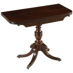 Game Table Feathered Mahogany Openable Top, England, circa 1830