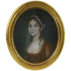 Late 19th Century French Pastel Portrait