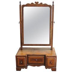 18th Walnut Dressing Mirror