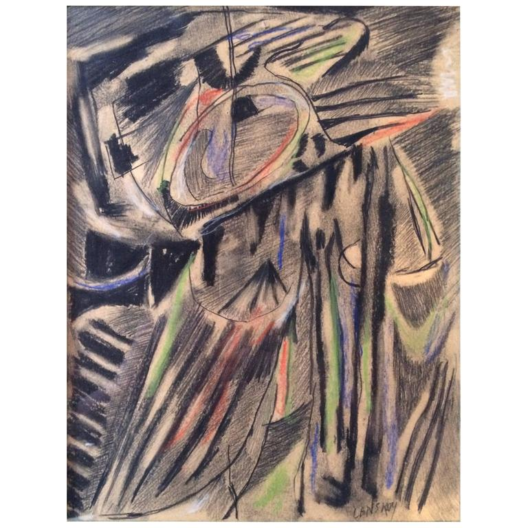 André Lanskoy Pastel Drawing