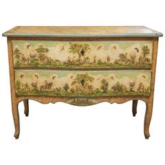 19th Century Venetian Laca Povera Commode