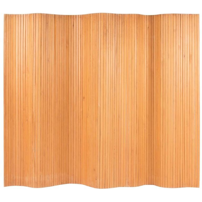 Pinewood Room Divider by Alvar Aalto