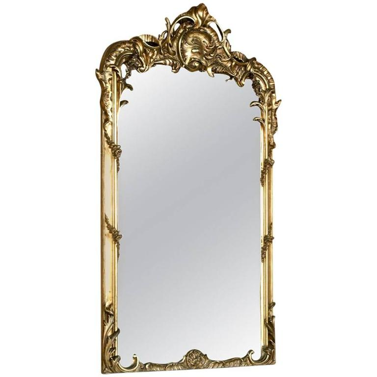 19th Century French Regence Gilded Mirror