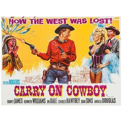 """""""Carry on Cowboy"""" Film Poster, 1965"""