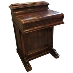 Antique English Walnut Davenport, 1840