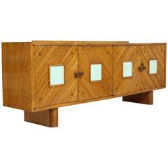 Pier Luigi Colli Oak Buffet Sideboard, Mid-Century Modern Italy, 1940s-1950s