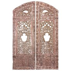 Pair of Carved Turkish Doors, 18th Century