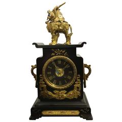 Tiffany New York and Edouard Lievre Japonisme Clock, 19th Century