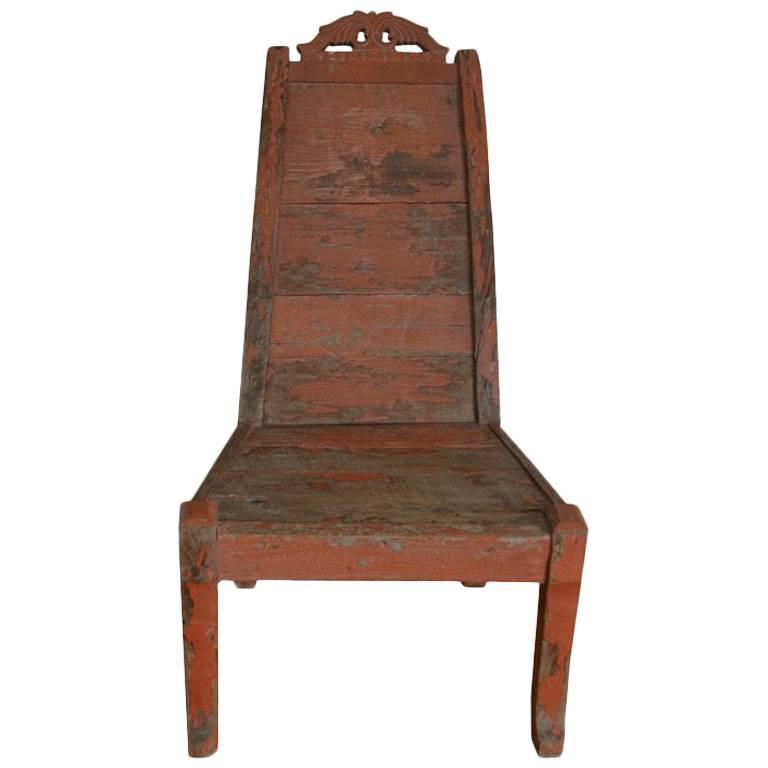 Andrianna Shamaris Teak Wood Chair For Sale