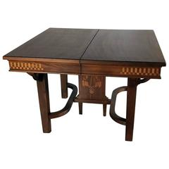 Italian Art Deco Mahogany Inlaid Dining Table