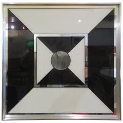 Op-Pop-Art Graphic Mirror by Turner Manufacturing Company