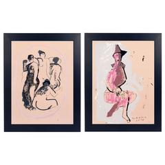 Pair of Marino Marini Lithographs