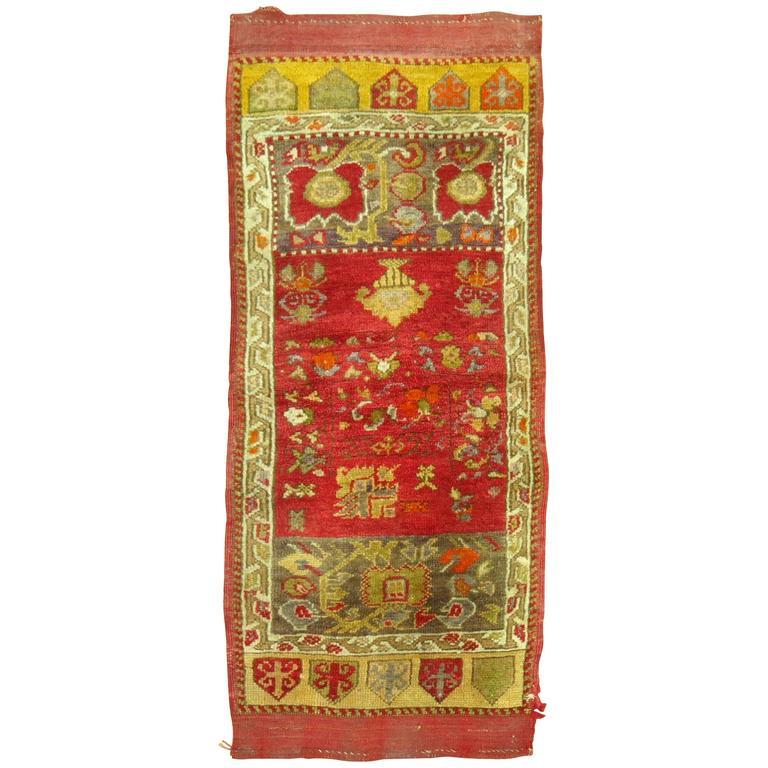 Turkish Yastik Rug: Antique Turkish Yastik Rug At 1stdibs