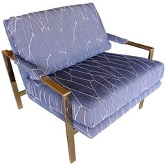 Brass Plated Lounge Chair in the Manner of Harvey Probber, circa 1970s