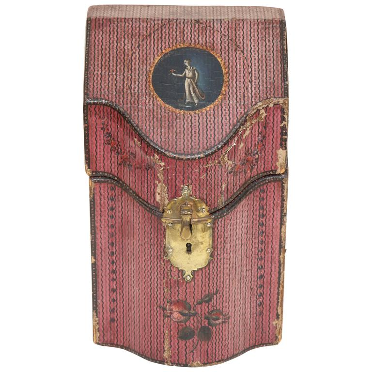 Late 18th Century English Painted Neoclassical Knife Box 1