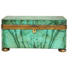 19th Century Continental Malachite Box