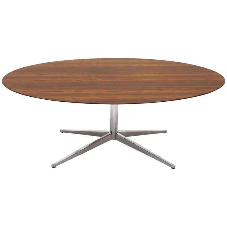 Florence Knoll Elliptical Rosewood Dining Table or Table Desk