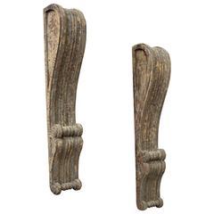Pair of Georgian Wooden Brackets