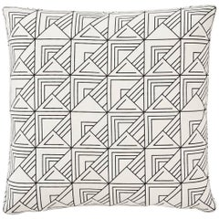 "Pair of Schumacher Frank Lloyd Wright St Marks Black White Two-Sided 18"" Pillows"