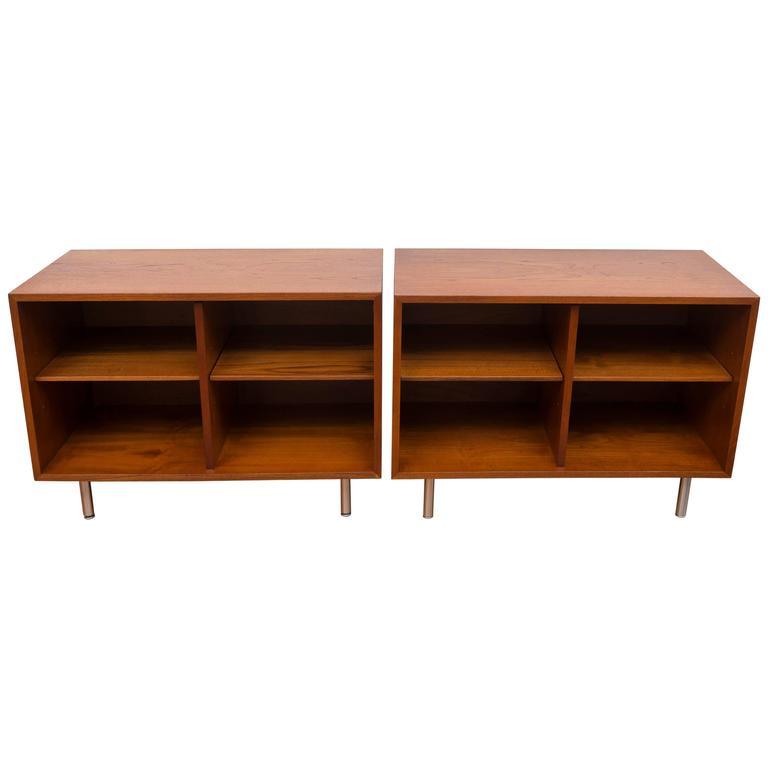 Pair of George Nelson Teak Shelves for Herman Miller 1