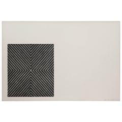 "Frank Stella 1967 Lithograph ""Black Series II"""