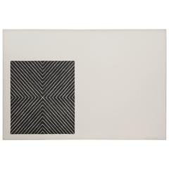 "Frank Stella 1967 Lithograph ""Black Series II"" Signed Numbered 6?/100"