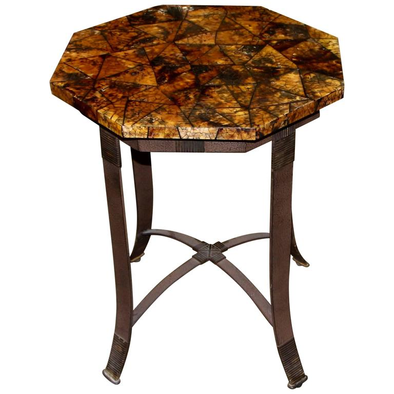 Kreiss Collection Coconut Shell Octagon Top Table With