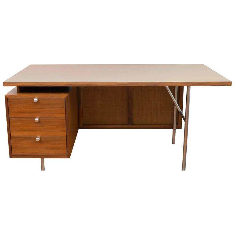George Nelson Walnut Desk 1