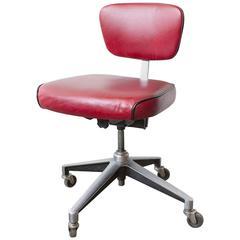 1960s Cast Aluminium Steno Chair, Refinished