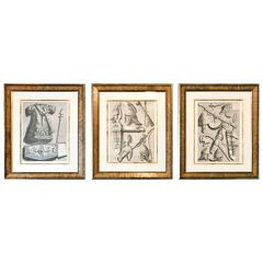 Three 18th Century Engravings of Armour, Commissioned by the Prince of Orange