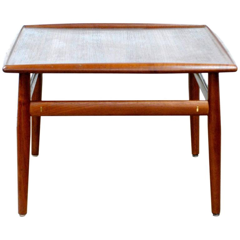 Scandinavian Teak Coffee Table: Scandinavian Teak Coffee Table By Grete Jalk For Sale At