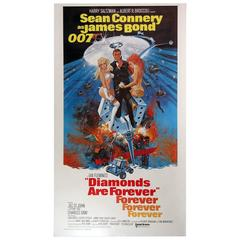 """Diamonds Are Forever"" Film Poster, 1971"