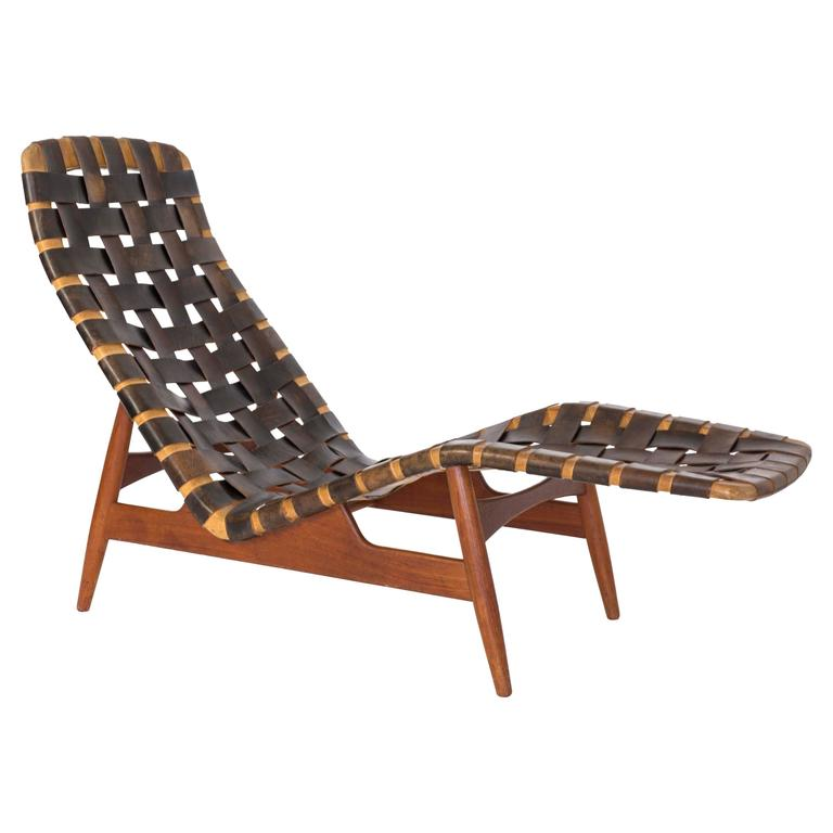 Arne vodder chaise longue for bovirke circa 1950 for sale for 1950 chaise lounge
