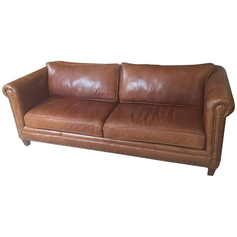 Sumptuous Soft Large Brown Leather Sofa At 1stdibs