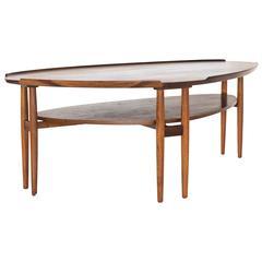 Arne Vodder Asymmetrical Rosewood Coffee Table