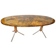 Modern Painted Oval Coffee Table
