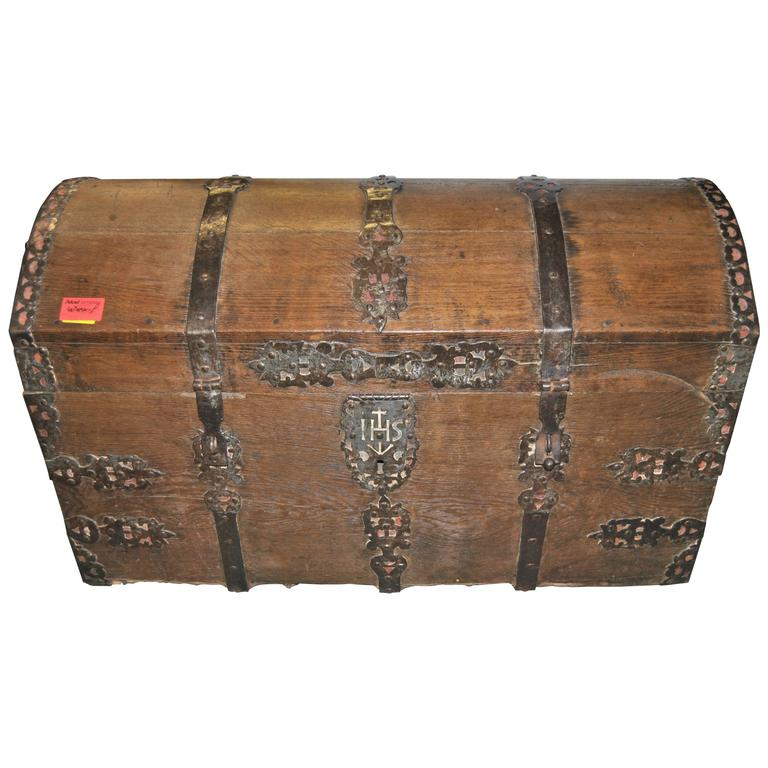 18th Century Sea Chest-Blanket Chest-Coffer